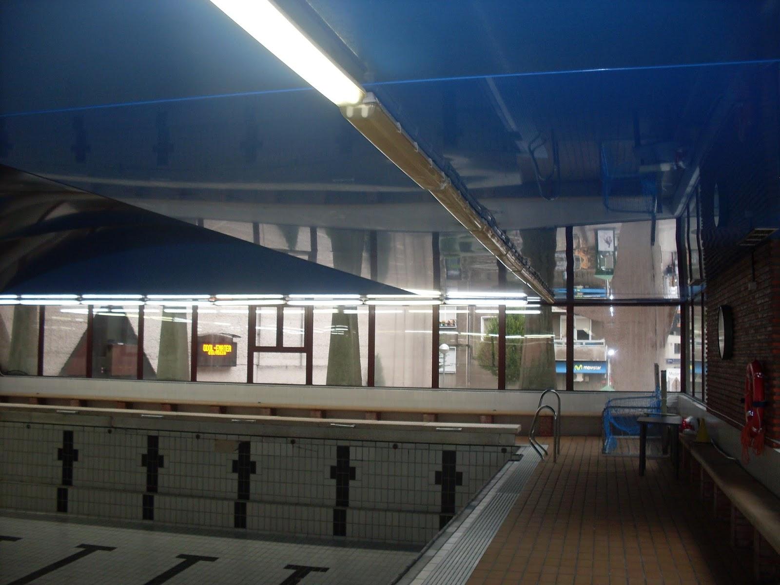 Barrelau techos tensados nueva instalacion en las for Piscinas leioa