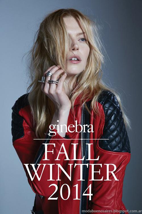 Ginebra otoño invierno 2014 Moda otoño invierno 2014 camperas de cuero de mujer y tapados 2014.