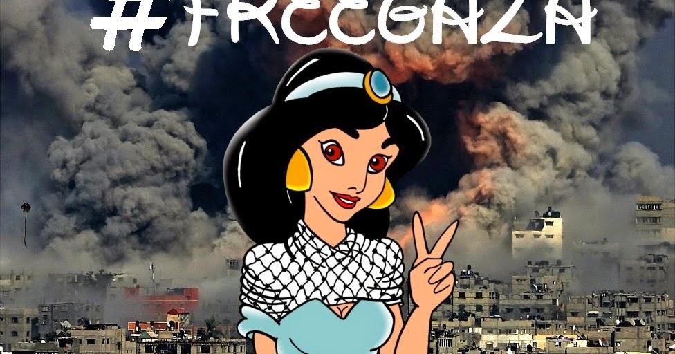... Human Rights - Disney Princess Jasmine #FREEGAZA by aleXsandro Palombo