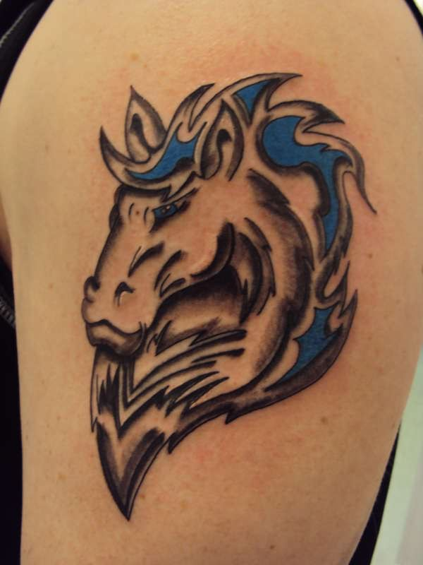 tatto awesome horse tattoos. Black Bedroom Furniture Sets. Home Design Ideas