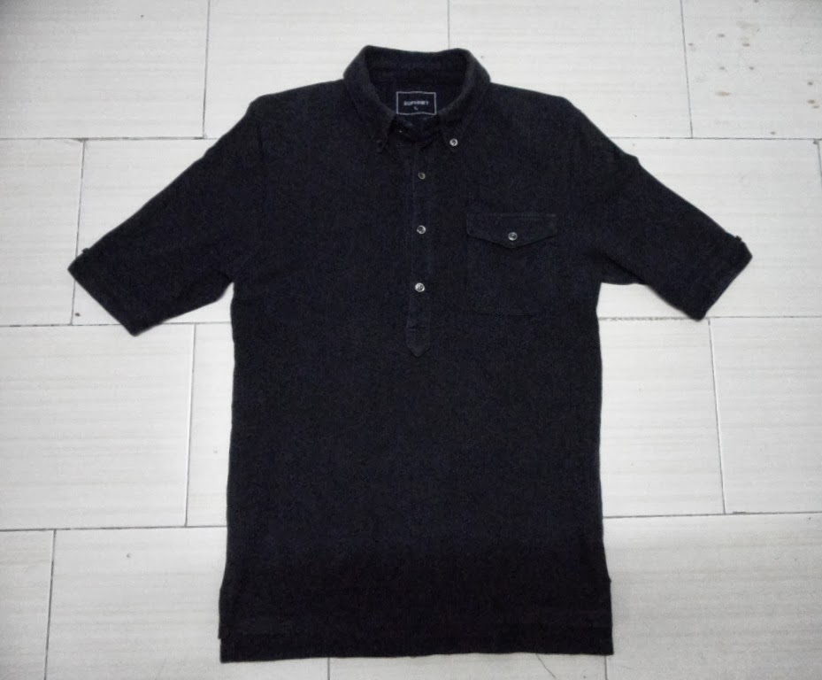 Clayback bush thrift store polo t shirt sophnet button for Polo t shirts with pockets