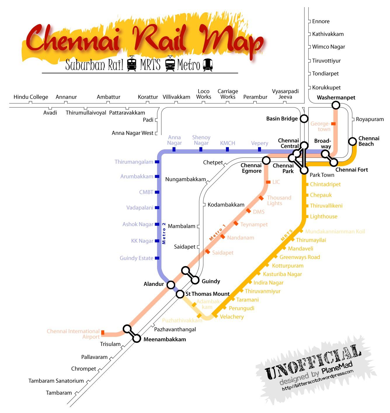 chennai rail map suburban mrts 2