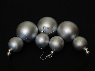 biżuteria z półfabrykatów - srebrne korale (komplet)
