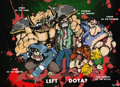 Funny Dota Wallpaper, Dota Heroes Tries To Be a Left 4 Dead Character