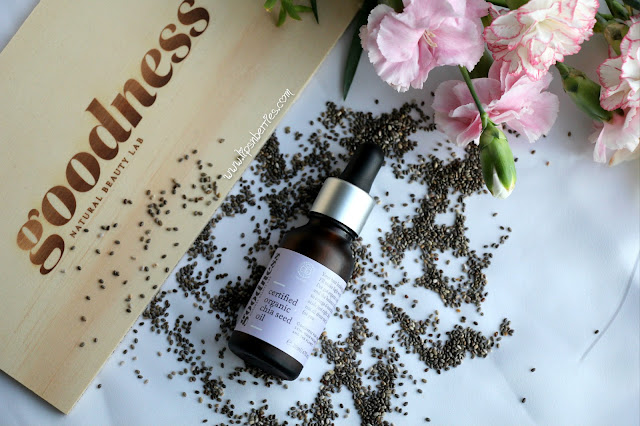 Chia seed oil for dry skin