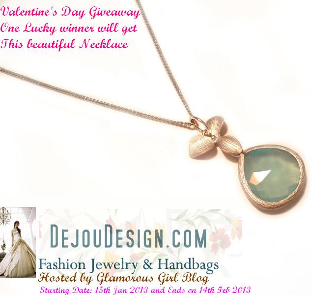 Valentine's Day Necklace Giveaway by dejoudesign.com