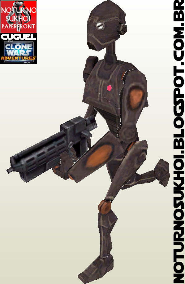 BX Droid Commando Papercraft