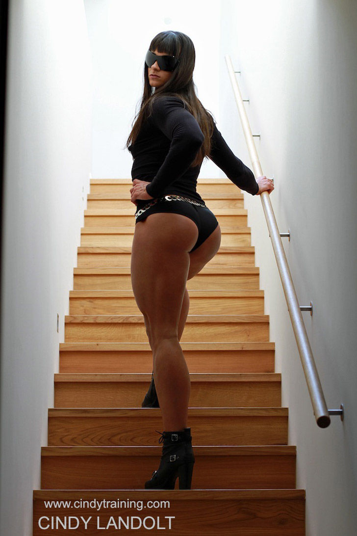 Cindy Landolt Modeling Her Glutes And Calves