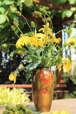 Weller Louwelsa Vase and Rudbeckia