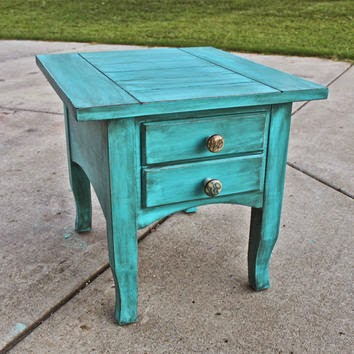 teal table diy