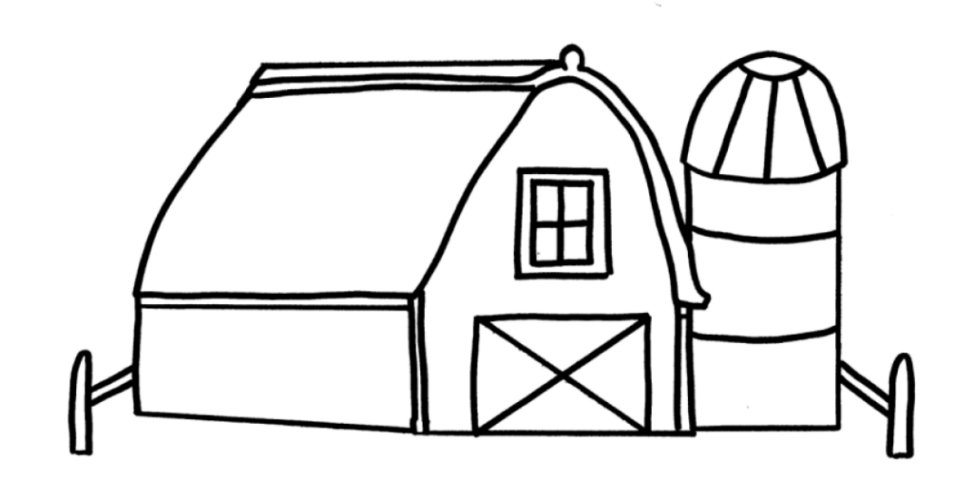 Drawing Coloring Barn Child Coloring