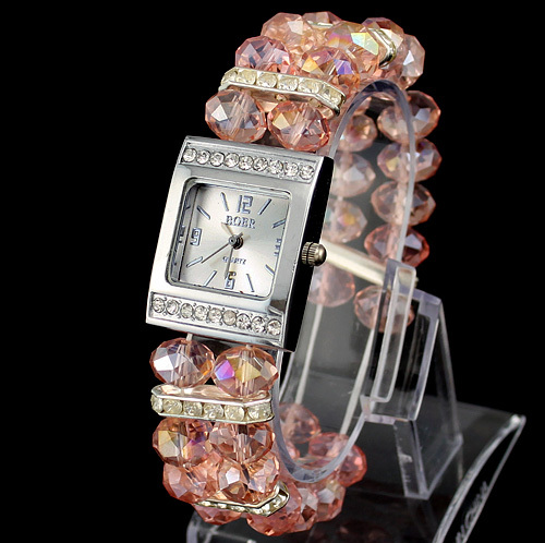 Various Color Brand New Beads Band Ladies Womens Girls Bracelet Wrist Watch