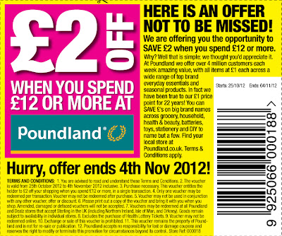 &#163;2.00 off a &#163;12.00 spend