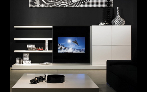 Wall Cabinet Design For Lcd : Lcd tv cabinet designs an interior design
