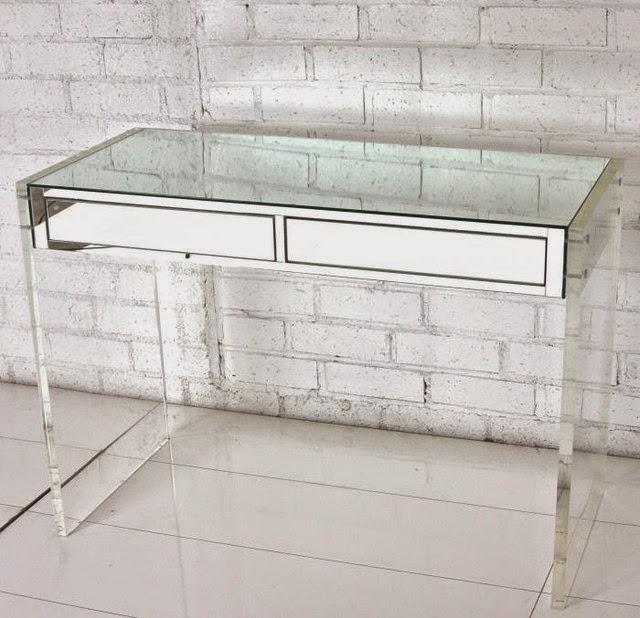 modern desks Mirrored desk ideas