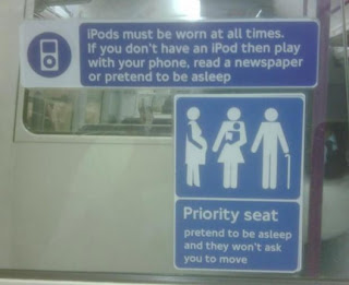 Spoof London Underground train sign