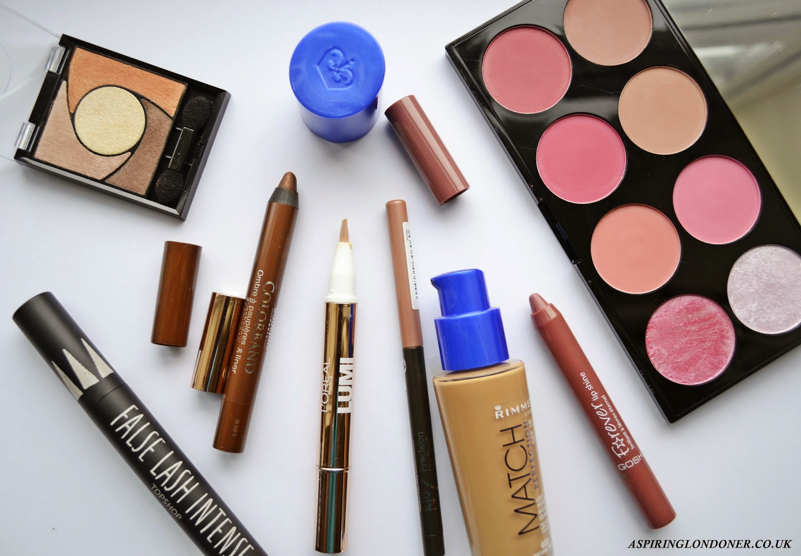 10 under £10 Drugstore Makeup Review ft Topshop, Bourjois, GOSH, Rimmel - Aspiring Londoner