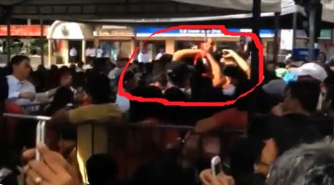 Protesters in Naga City