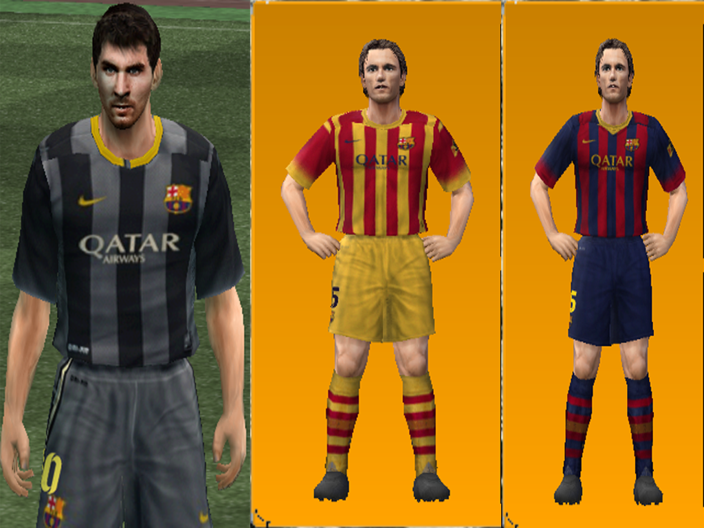 FC Barcelona kit 2013/2014 ( WE9 ) by Fallah