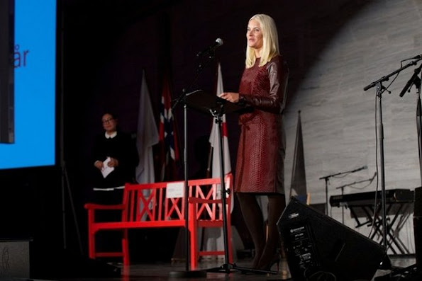 Crown Prince Haakon of Norway and Crown Princess Mette-Marit of Norway attend The Celebration Of The 150th Anniversary of the Norwegian Red Cross at Oslo City Hall