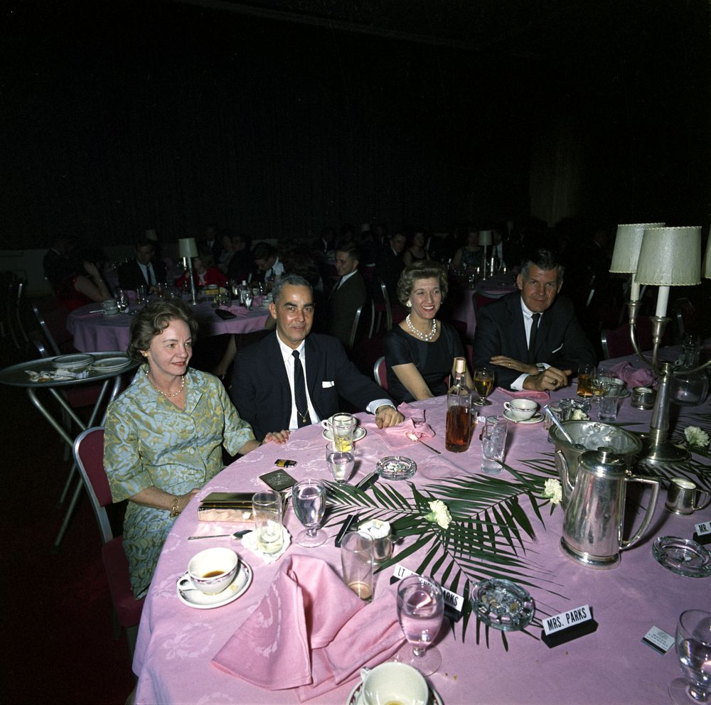 SAIC Gerald Behn and wife Jean at the 1/8/63 WHCA dinner