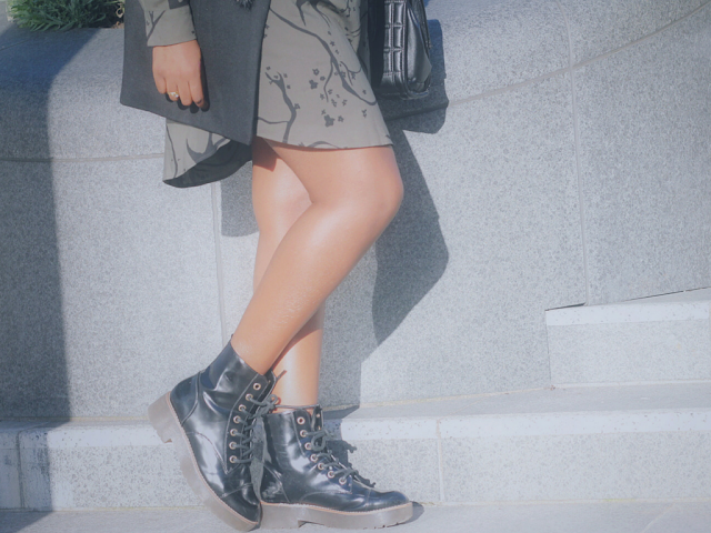 BLACK PATENT LACE UP BOOTS FROM RIVER ISLAND