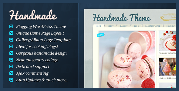 Image for Handmade – Personal Blog Theme by ThemeForest