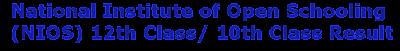 NIOS Results-www.nios.ac.in