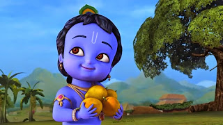 Krishna kecil yang imut dan cerdas