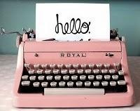 La máquina de escribir rosa