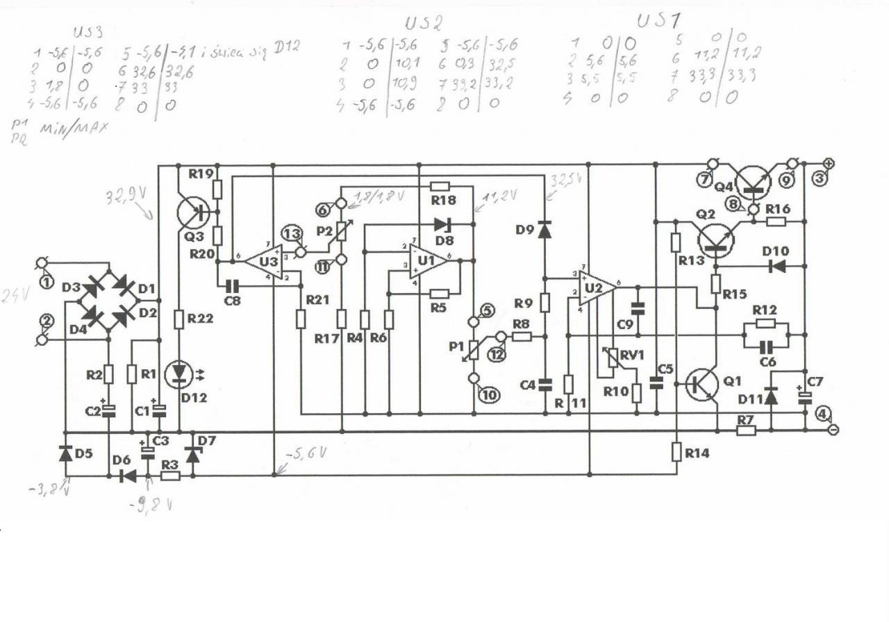 схема блока 0 12 вольт с защитой от кз