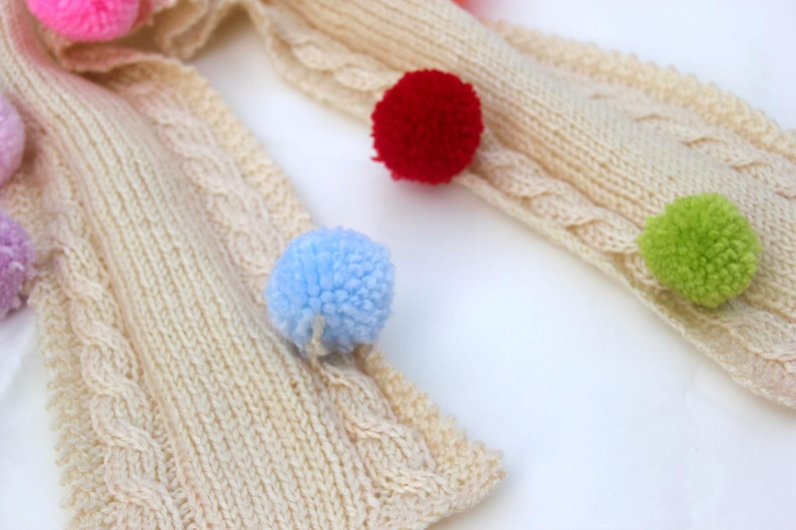 Diy como hacer una bufanda para ni os de 2 o 3 a os - Como hacer una bufanda de lana gorda ...