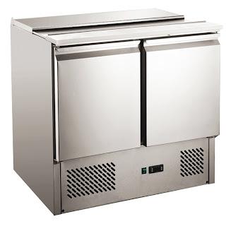 Bar refrigerat pentru salate cu capac din otel inoxidabil , functie de autodezghetare, temp +2,+10°C  900x698x(H)850 mm 250 W 230 V