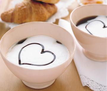 Foto desayuno romántico