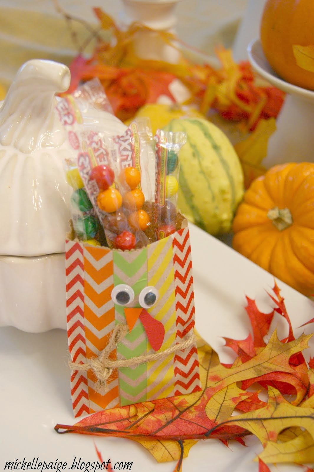 Washi Tape Turkey Sacks