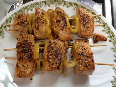 salmon kebobs by themselves