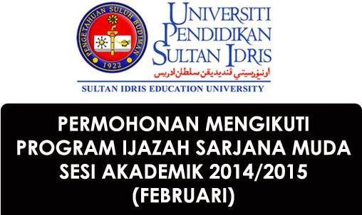Permohonan UPSI Program Ijazah Ambilan Februari 2015