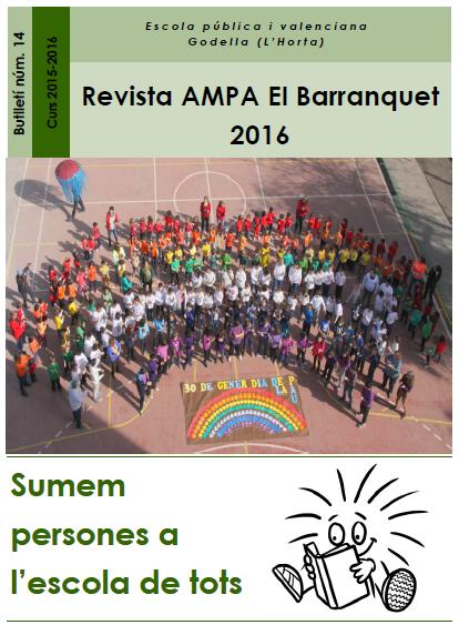 REVISTA AMPA BARRANQUET 2016