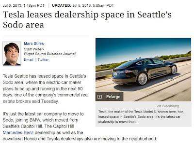 Urban Visions Welcomes Tesla To Sodo Urban Visions