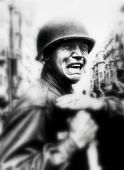 Tristes imágenes de soldados...
