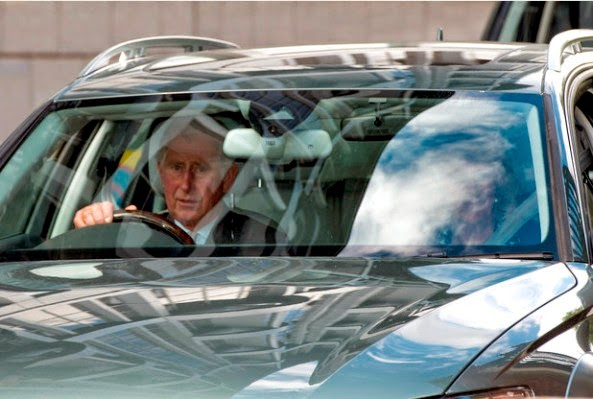 The Prince Of Wales Arrived At Kensington Palace To Meet His First Granddaughter