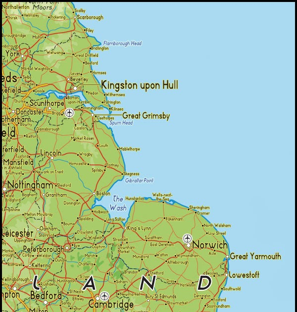North East England Regions Map United Kingdom Map Regional City Province