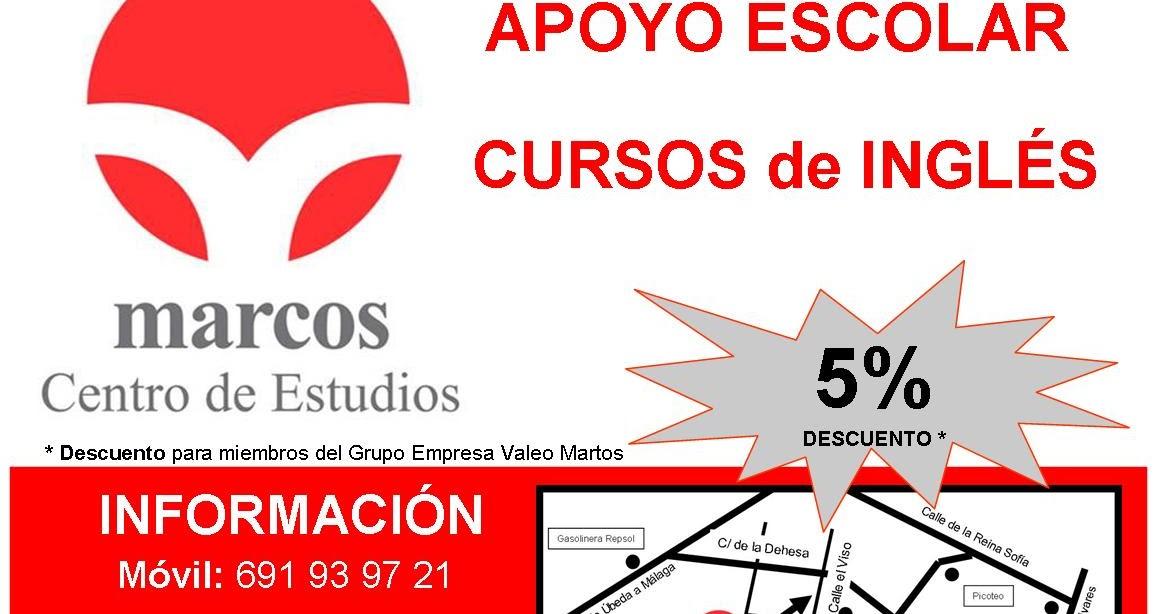 Descuento Grupo Empresa Valeo Martos | Centro de Estudios Marcos