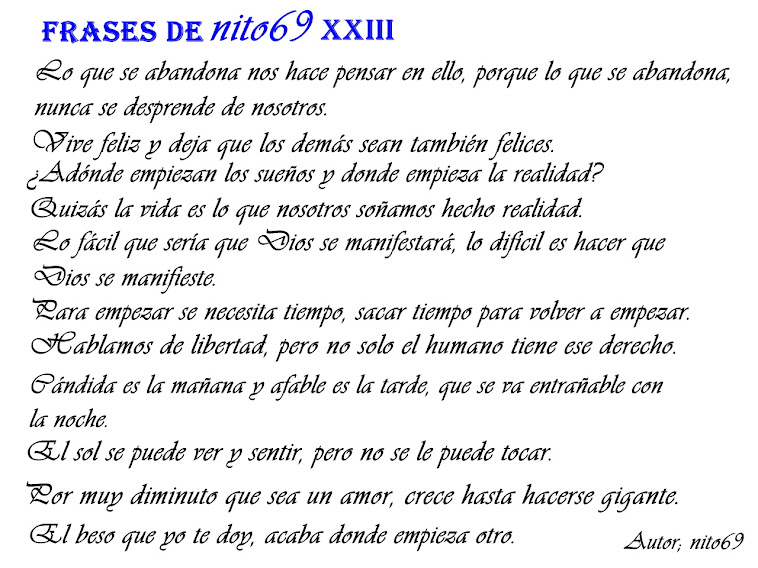 FRASES DE nito69 XXIII