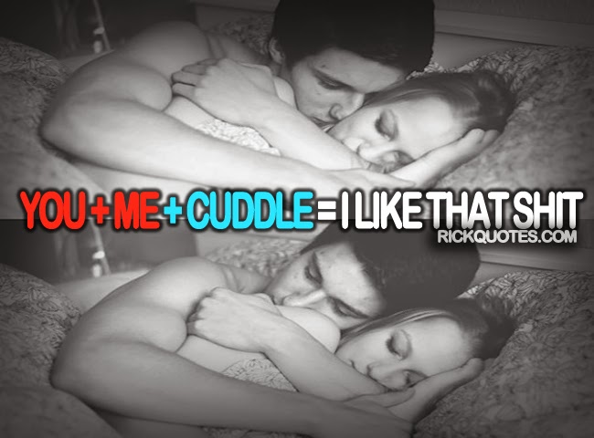 LOVE QUOTES | YOU + ME + CUDDLE couple in bed