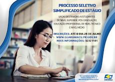 Guaraniaçu - Inscrições abertas para estágio