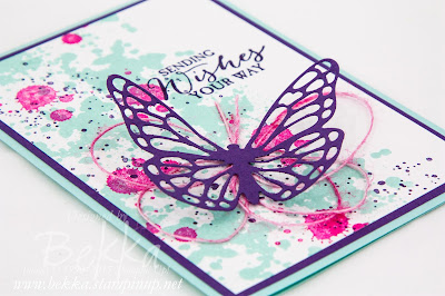 Gorgeous Grunge Butterfly Wishes Card and a tip about colouring threads - check it out here