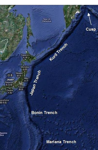 What is Japan Trench?