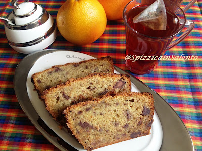 black banana bread (plumcake banana e cioccolato)