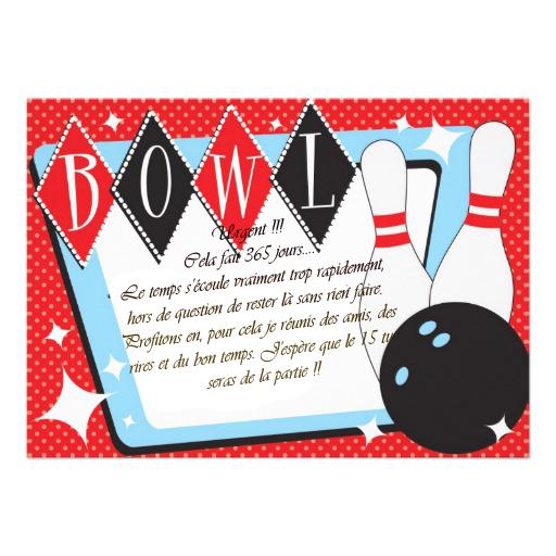 Fabuleux Carte d'anniversaire bowling a imprimer - Carte Anniversaire  VF44